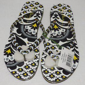 NWT Vera Bradley FanFare FlipFlops Sandals size M